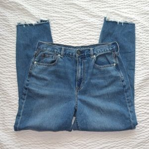 American Eagle Ripped Mom Style Jeans